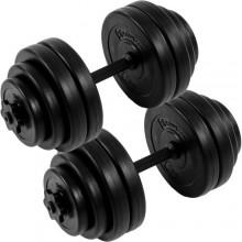 MOVIT 2 jednoručné činky s kotúčmi 30 kg (2x15 kg)