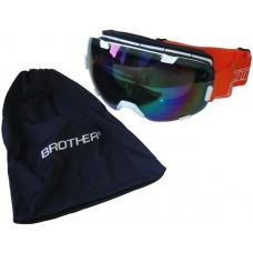 Brother Lyžiarske okuliare s veľkým zorníkom B298 - biele