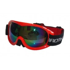 Lyžiarske okuliare pre dospelých - dvojsklo - červené