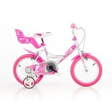 """Detský bicykel, ružová potlač 16"""""""