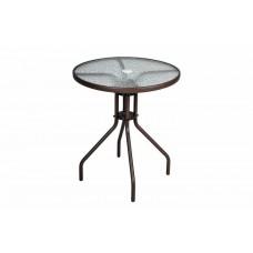 Bistro stolík so sklenenou doskou