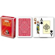 Modiano 2 rohy 100 % plastové karty – červené