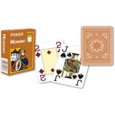 Modiano 4 rohy 100% plastové karty - Hnědé