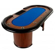 XXL pokerový stôl Royal Flush, 213 x 106 x 75 cm, modrá