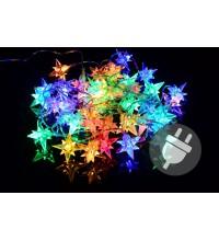 Vianočné LED osvetlenie - farebné hviezdy, 40 LED