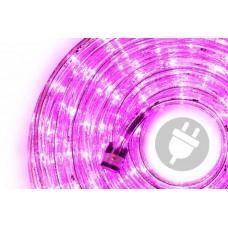 LED svetelný kábel - 240 diód, 10 m, ružový