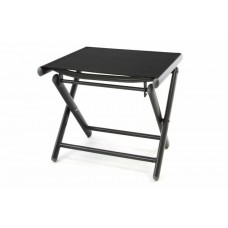 Hliníková záhradná stolička skladacia - čierna
