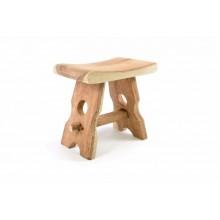 Masívna stolička z mungurového dreva DIVERO - ručná práca