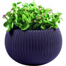 Kvetináč COZIES KNIT - M - tmavofialová