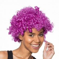 Afro paruka - fialová