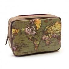 Toaletní taška s mapou světa
