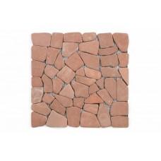 Mramorová mozaika Garth - červená / terakota – obklady 1 ks