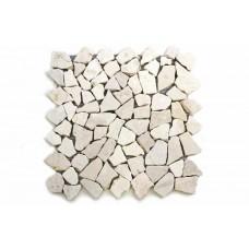 Mramorová mozaika Garth 35 x 35 cm - krémová biela