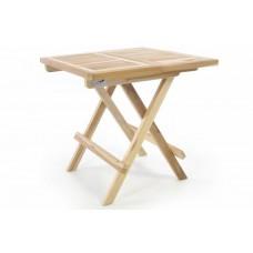 Skladací záhradný stolík DIVERO - teakové drevo neošetrené - 50 cm