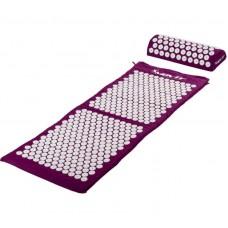 Akupresúrna podložka s vankúšom MOVIT 130 x 50 cm - fialová