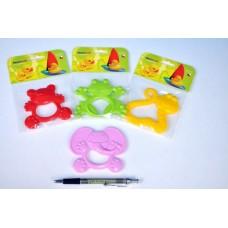 Kousátko zvířátko plast - 4 druhy