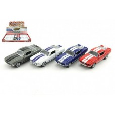 Auto Kinsmart Shelby GT-500 kov 13cm na zpětné natažení - 4 barvy