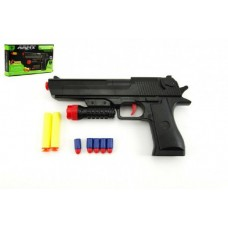 Pistole na pěnové náboje 2ks + špuntovka 5ks plast 30cm v krabici