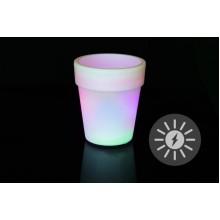 Solárne osvetlenie - kvetináč so zmenou farieb - 19 x 17 cm