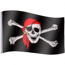Pirátska vlajka Jolly Roger - 120 cm x 80 cm