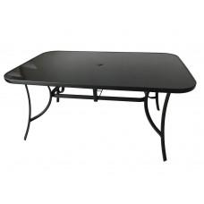 Kvalitný kovový stôl (ZWT-150) - čierne sklo