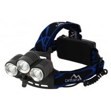 Čelovka LED 400 lm (1 x XM-L + 2 x XP-E)
