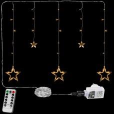 Vianočná reťaz - hviezdy - 61 LED teplá biela