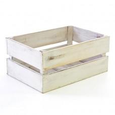 DIVERO Vintage debna, biela 42 cm x 23 cm