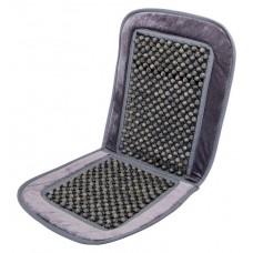 Poťah sedadla guličkový s lemom - 93 x 44 cm, sivý