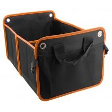 Organizér do kufra dvojitý - 54 x 34 cm, čierny/oranžový