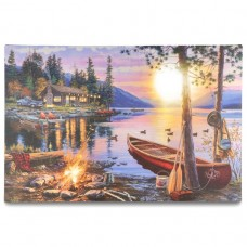 Nástenná maľba Západ slnka - 8 LED, 40 x 60 cm
