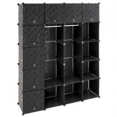 Regál čierny - zásuvný systém