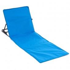 Nastaviteľná plážová podložka s opierkou - modrá