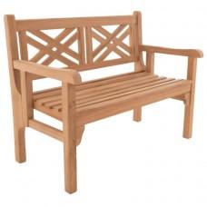 DIVERO dvojmiestna sklopná lavica z teaku