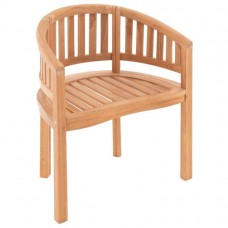 DIVERO stolička - ošetrený teak