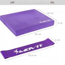 Balančný vankúš s gymnastickou gumou - fialový