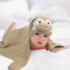 Detská osuška s kapucňou 76 x 76 cm - opica