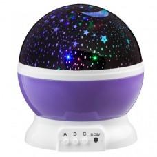 LED Star Light projektor nočnej oblohy - fialová