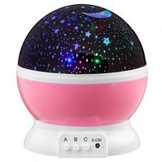 LED Star Light projektor nočnej oblohy - ružová