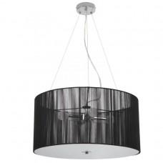 Závesné svetlo v retro štýle, čierne, 50 x 50 x 71 cm