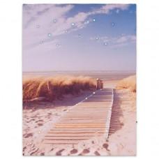 Nástenná maľba piesočná cesta na pláž, 30 LED, 30 x 40 cm