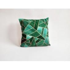 Povlak na vankúš Diamant zelený, 45 x 45 cm