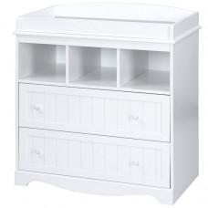 Prebaľovacia komoda vo farbe bielej, 88 cm