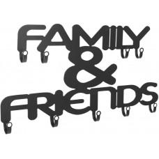 Nástenný vešiak s deviatimi háčikmi, Family & Friends