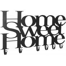 Nástenný vešiak so šiestimi háčikmi, Home Sweet Home