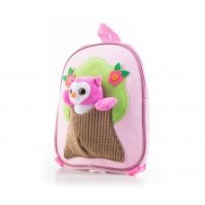G21 batoh s plyšovou sovičkou- ružový