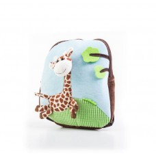 G21 batoh s plyšovou žirafou, modrý