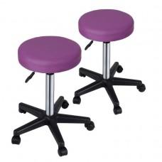 Sada stoličiek na kolieskach, fialové, 2 ks