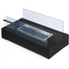Stolný krb nerezový, čierny, 350 x 182 x 146 mm