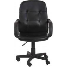 Kancelárska stolička s lakťovou opierkou, čierna